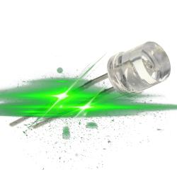Lysdiode, 8 stk, grøn, med...