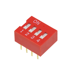 DIP Switch, 4 kontakter