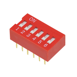 DIP Switch, 6 kontakter