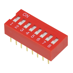 DIP Switch, 8 kontakter