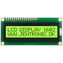 LCD display 1602 I2C, Grøn