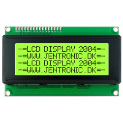 LCD display 2004 I2C, Grøn